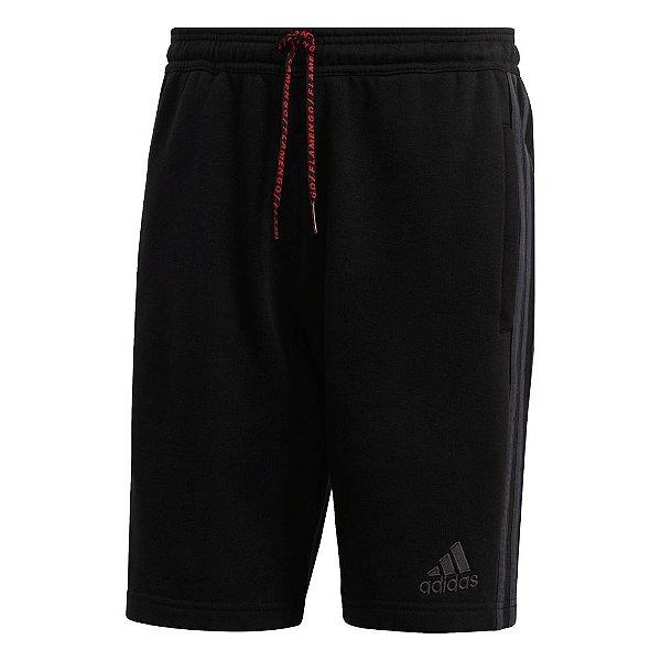 Shorts Adidas CR Flamengo Street Graphic Masculino Preto