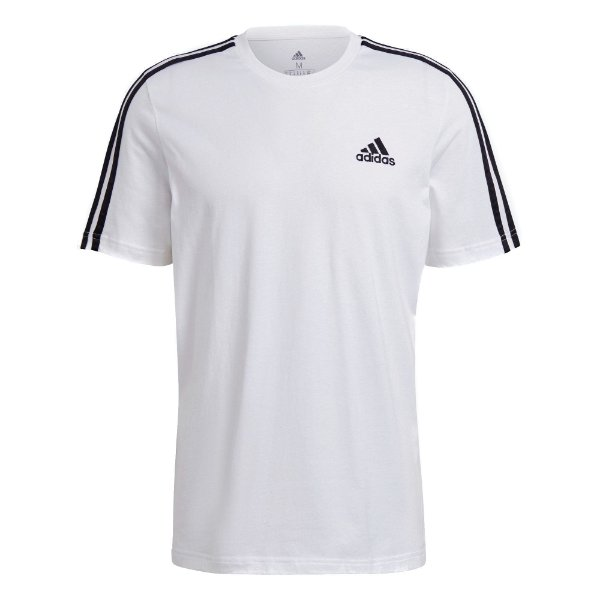 Camisa Adidas Essentials 3-Stripes Masculina Branca