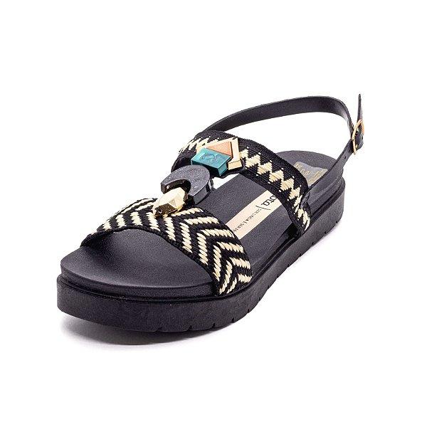 Sandália Plataforma Dakota Feminina Preta
