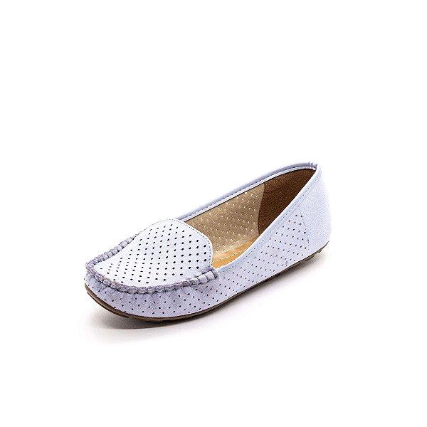 Sapato Mocassim Vizzano Feminino Azul