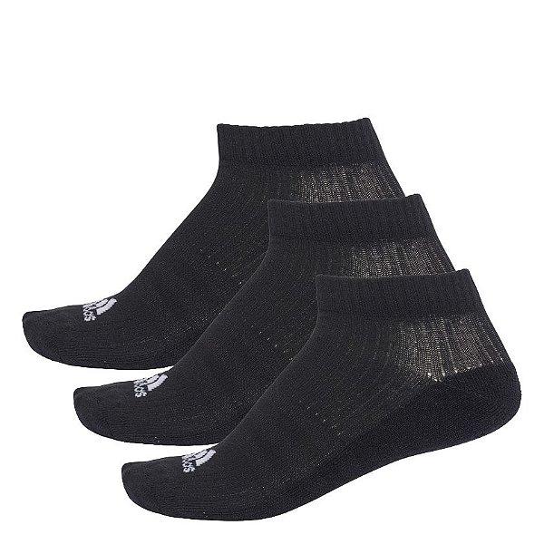 Meia Adidas Liner Cushion 3S - 3 Pares Unissex Preta