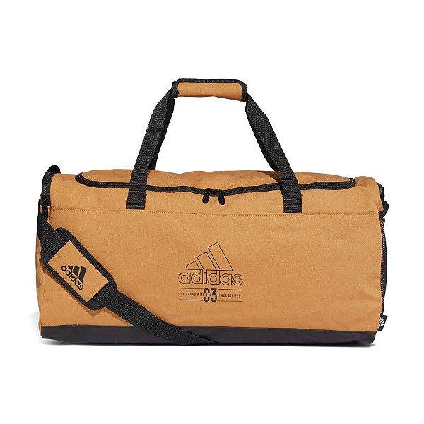 Bolsa de Viagem Adidas Duffel Brilliant Basics Unissex Caramelo
