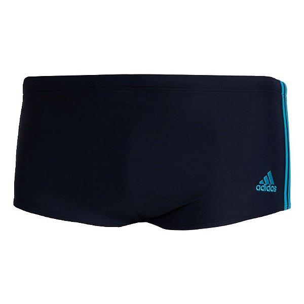 Sunga Adidas 3-Stripes Wide Masculina Preta