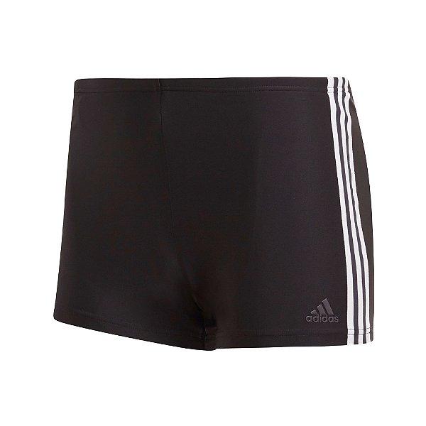 Sunga Boxer Adidas 3-Stripes Masculina Preta