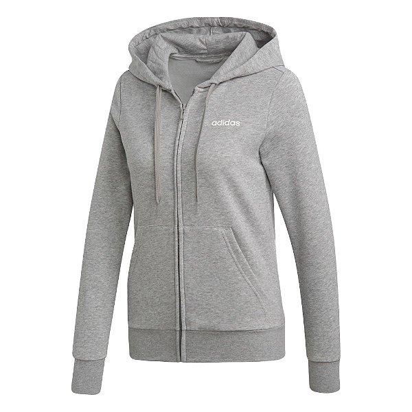 Jaqueta Adidas Capuz Essentials Solid Feminina Cinza