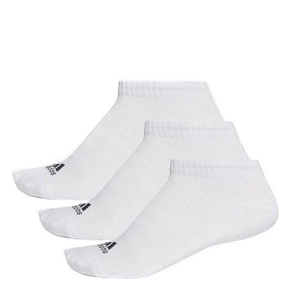 Meia Adidas Liner Cushion 3S-3 Pares Unissex Branco