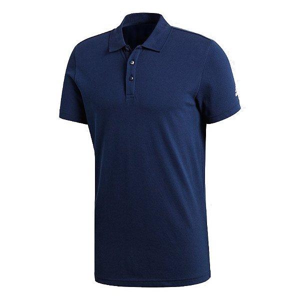 Camisa Polo Adidas Masculina Azul