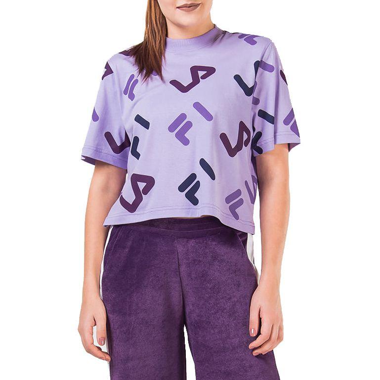 Camiseta Fila Full Cropped Feminina Lilás