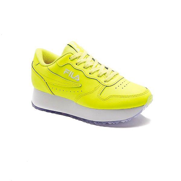 Tênis Esportivo Fila Euro Jogger Wedge Sl Feminino Infantil Amarelo