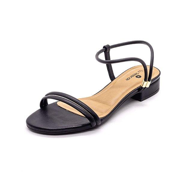Sandália Salto Grosso Lu Rezende Feminina Preto
