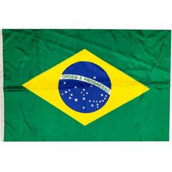 Kit 12 Bandeiras Brasil Média 40x60 Com Haste - Classe