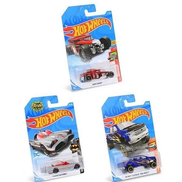 Kit com 3 Carrinhos Hot Wheels Sortidos 1/64 Mattel C4982