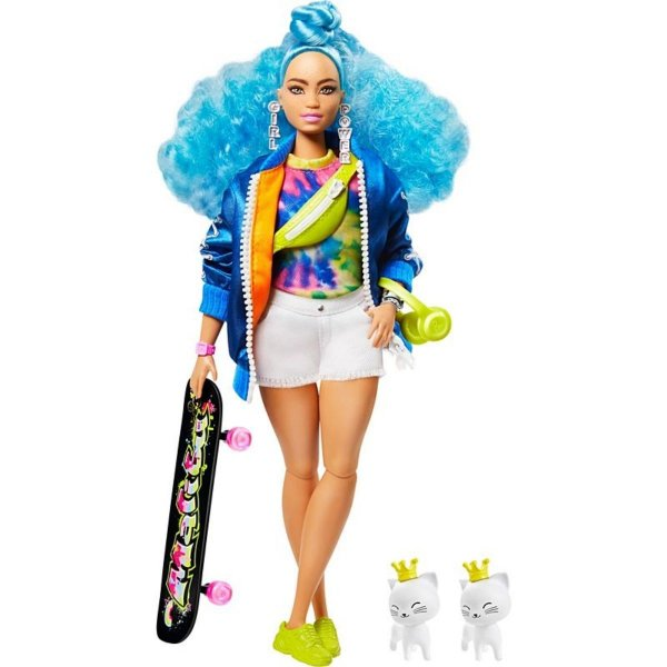 Barbie Extra Cabelos Azuis - Malibu - Mattel