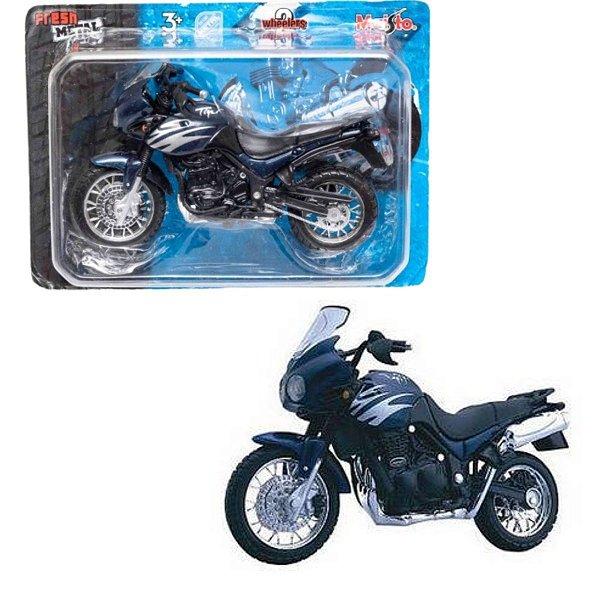 Miniatura Moto Tiger Azul Metal - Maisto