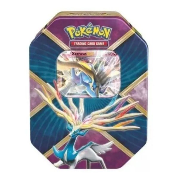 Lata Pokémon Kalos Brilhante Xerneas-EX -Copag