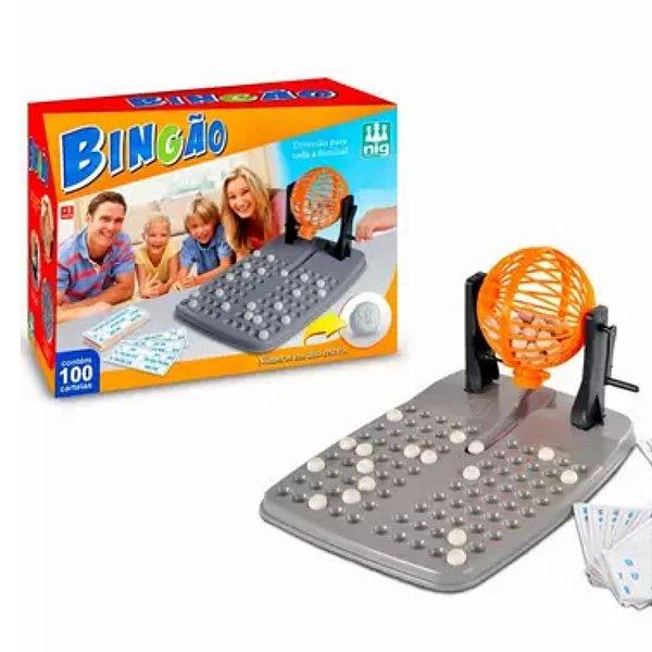 Jogo Bingão 100 Cartelas - Nig Brinquedos