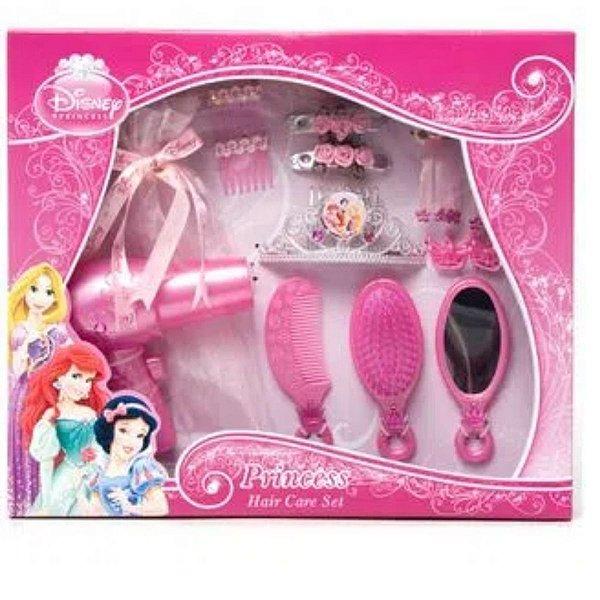 Kit Para Cabelo Princesas Hair Care Set 14 Peças