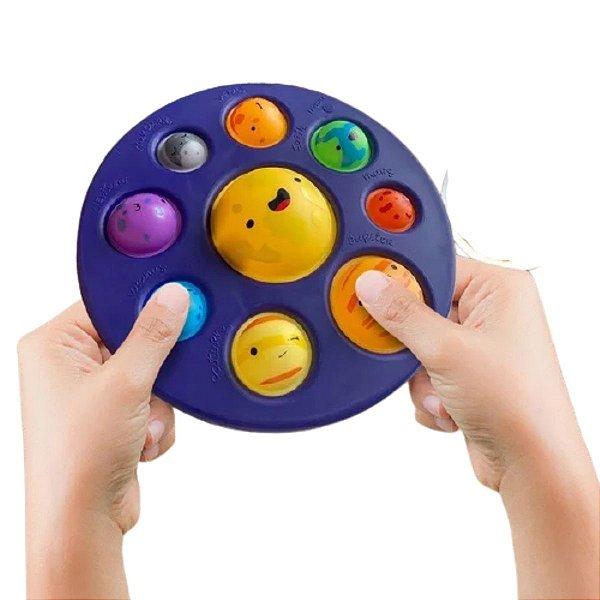 Fidget Toys Oito Planetas Simples Dimple Pop It Fidget Sensory Toy