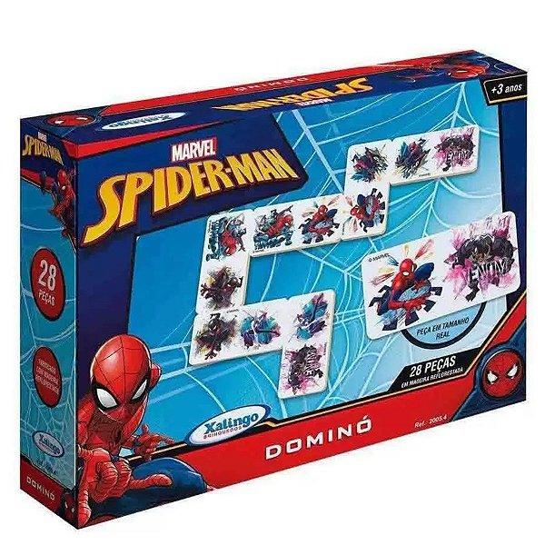 Dominó Em Madeira Spider-Man 28pçs - Xalingo
