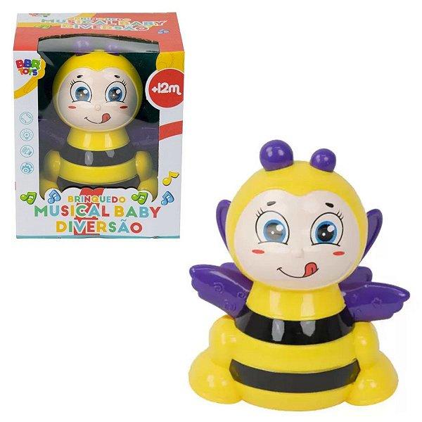 Abelhinha Brinquedo Musical Baby Diversão - Bbr Toys