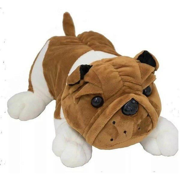 Bulldog Cachorro Deitado 20cm - Bbr Toys