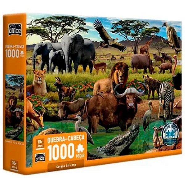 Quebra Cabeça Savana Africana 1000 Peças - Toyster