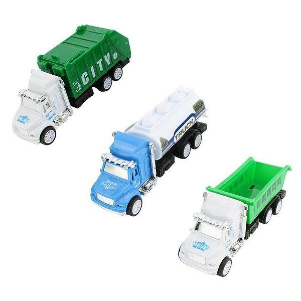 Brinquedo Kit Veículos De Reciclagem Mega City - BBR
