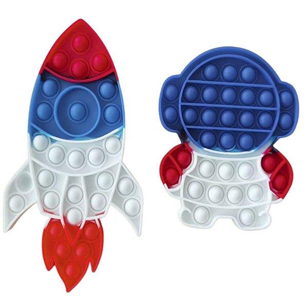 Fidget Toys Pop It Kit Astronauta E Nave