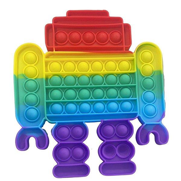 Pop It Grande Robô Fidget  toy 22 Cm Raro cores Sortidas