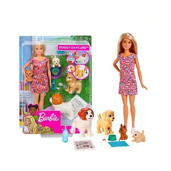 Boneca Barbie Treinadora De Cachorrinhos