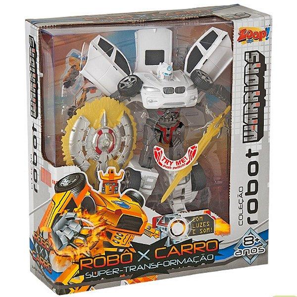 Robot Warriors Com Luz e Som - Branco