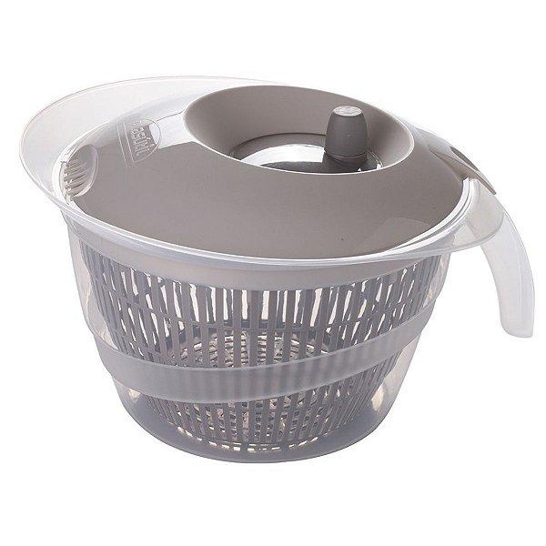 Secador de Salada de Plástico 2,8 L Manual com Cesto para Escorrer