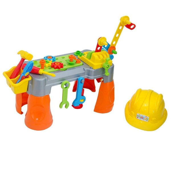 Brinquedo Bancadinha De Ferramentas Com Capacete - Maral