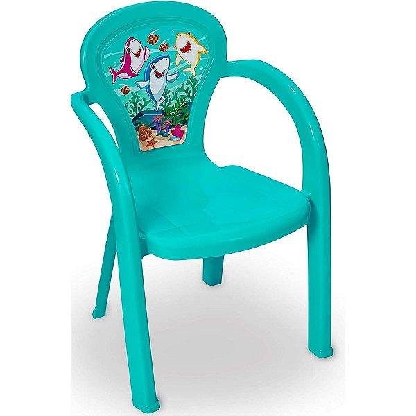 Cadeira Infantil Decorada De Plástico Usual Plastic - Modelo Oceano