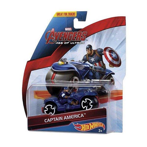 Hot Wheels Vingadores Moto Capitão América - Mattel
