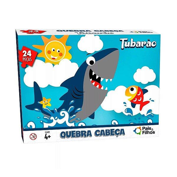 Quebra Cabeça Tubarão 24 Peças