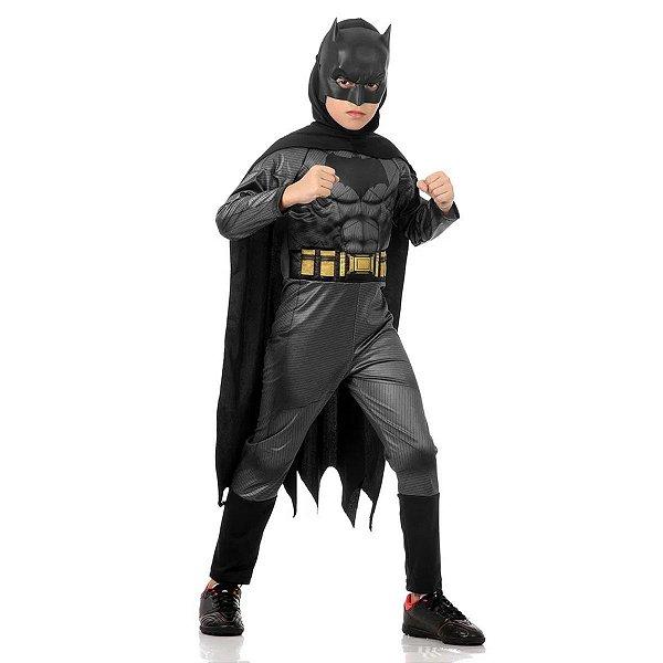 Fantasia Batman vs Superman Infantil Para Menino de Luxo Com Músculo G  - Sulamericana
