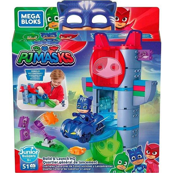 Blocos De Montar Mega Bloks Pj Masks Quartel General 51 Peças - Mattel