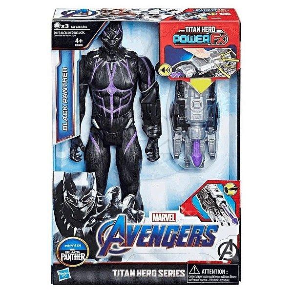 Boneco Pantera Negra 30cm Com Dispositivo Eletrônico Power - Hasbro