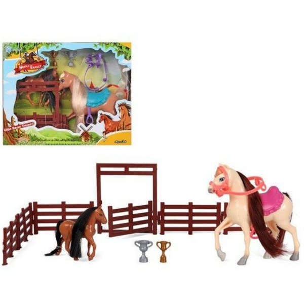 Horses Family Conjunto Animal Com Acessórios Cores Sortidas