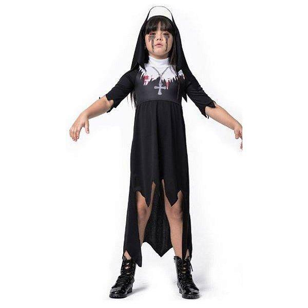 Fantasia Halloween Infantil Freira