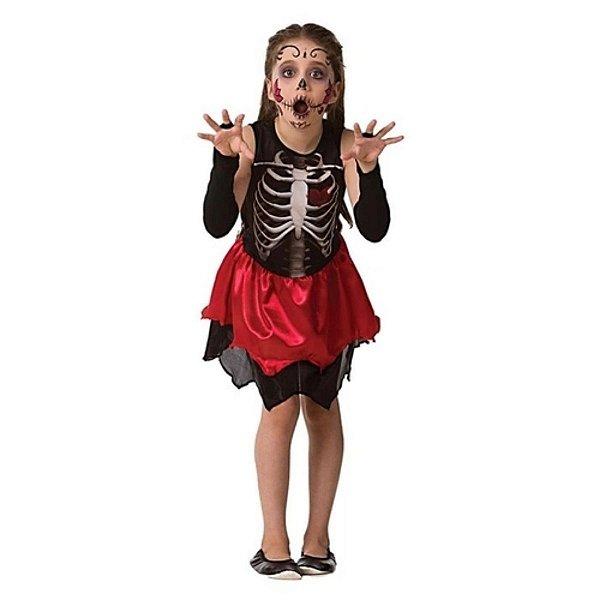Fantasia Halloween Infantil Esqueletinha