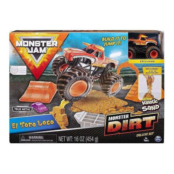 Pista Com Massa Areia e Veículo - Monster Jam - El Toro Loco- Sunny