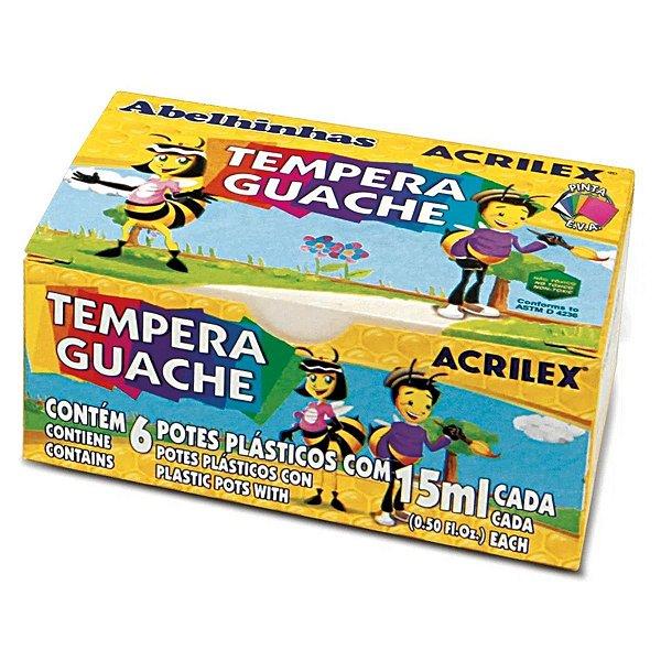 Tempera Guache Acrilex com 06 Cores