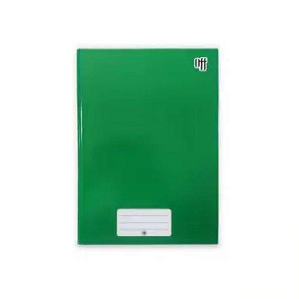 Caderno Brochura 1/4 Capa Dura Verde 48 folhas Off