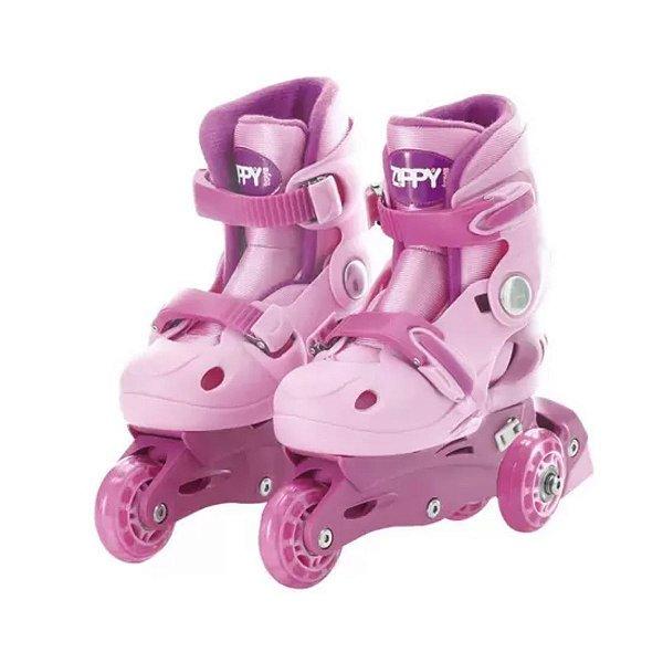 Kit Patins Tri Line - 2 em 1 - Rosa - Zippy Toys 30/33