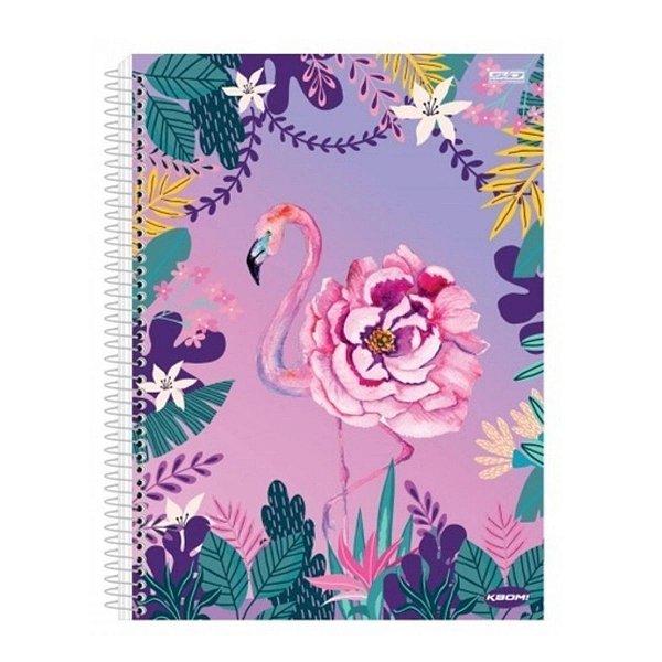 Caderno 10 Matérias Flamingo - São Domingos