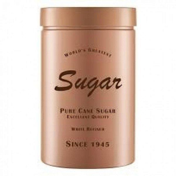 Pote de Plástico Redondo Bege Sugar c/ Tampa de Rosca