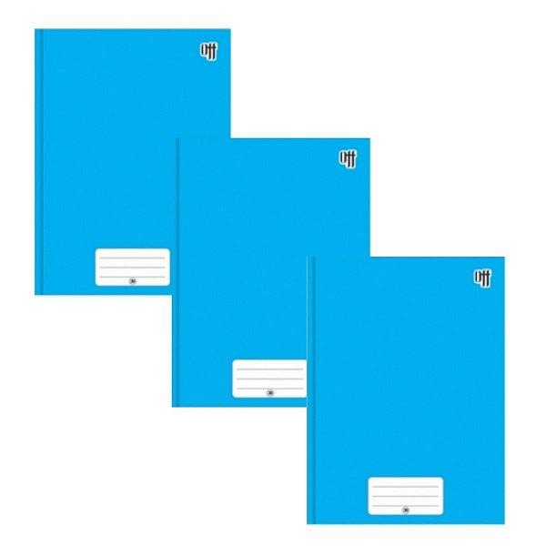Kit C/3 Caderno Brochura Universitário 96 Folhas Azul - 3B