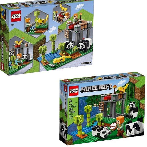 Minecraft A Creche Dos Pandas 204 Peças - Lego